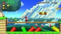 New Super Mario Bros, U Wii U Gameplay Walktrough Acorn Plains - 2 - Tilted Tunnel 3 Stars