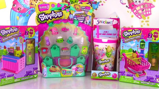 SHOPKINS KINSTRUCTIONS Shopping Cart & Checkout | 12 Pack | Snack & Drink Cup | Season 1 & 3