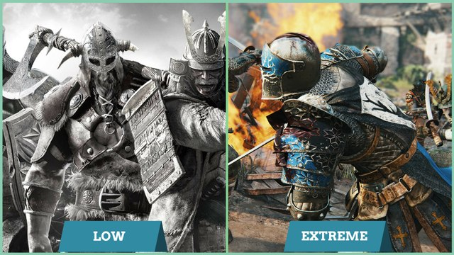 For Honor Low vs Extreme Graphics Comparison