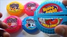 French Hubba Bubba Bubble Gum Tape vs German Bubble Gum Mini Rollz