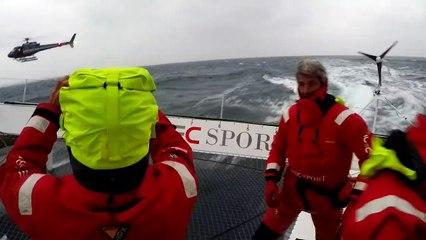 Vidéo à bord : Passage de la ligne d'arrivée !