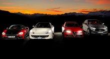 Dossier voitures de sport italiennes: GTC4Lusso vs Giulia Quadrifoglio vs Maserati Levante S vs Abarth 124 Spider