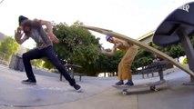 Figure de skate risqué et bien débile : La rampe humaine,