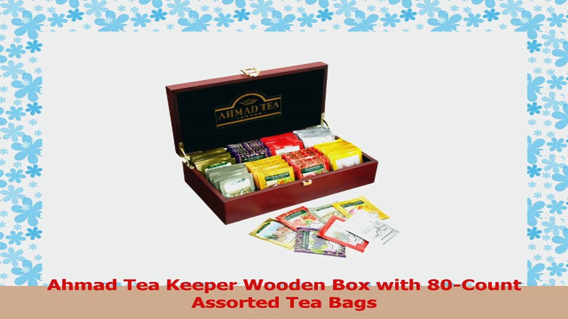 Ahmad Tea Keeper Wooden Box With 80count Assorted Tea Bags 06f8ae80