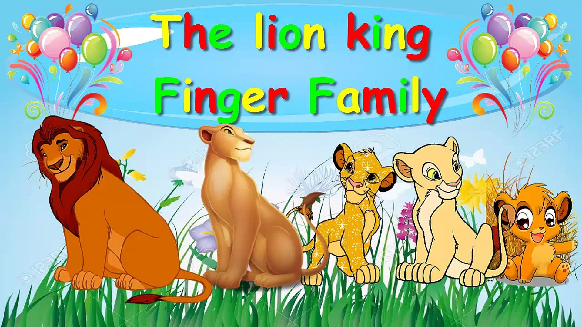 The Lion King Finger Family Song Balloon Finger Family Fun Toy Parody