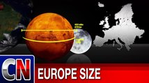 What would Europe's size look like on Moon, Mars, Jupiter and Pluto?