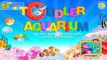 Toddlers First Alphabet Puzzles, Letters and Animals with Toddler Aquarium education app for toddler