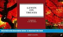 BEST PDF  Lewin on Trusts: 1st Supplement READ ONLINE