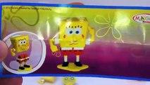 SpongeBob Kinder Surprise Egg Unboxing - Kidstvsongs