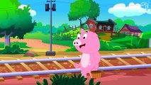 Piggy On The Railway Line - Popular Nursery Rhyme For Kids With Lyrics - Toddler Rhymes