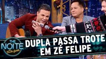 Eduardo Costa e Leonardo dão trote em Zé Felipe