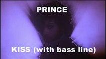 PRINCE - KISS (with bass guitar)