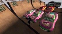 NEW Style Spiderman & School Bus with McQueen & Dinoco Disney Pixar Cars EPIC JUMP | Nursery Rhymes