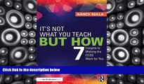 Pre Order It s Not What You Teach But How: 7 Insights to Making the CCSS Work for You Nancy Sulla