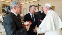 البابا فرنسيس يجمع في الفاتيكان بين الرئيس الكولوبي وخصمه أوريبي