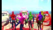 Spiderman Family Colors Dancing with Lightning McQueen Disney Pixar Cars COLORS | Nursery Rhymes