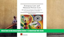 BEST PDF  European Law and National Private Law  Effect of EU Law and European Human Rights Law on