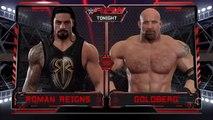 WWE Raw Smackdown-Roman Reigns vs. Goldberg (RAW). -Best Match Full Match Full HD