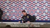 Atletico Madrid: Simeone ne «pense pas aux critiques»
