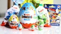 Some Kinder Surprise Easter Eggs Big Egg Kinder Maxi, Ester Edition Egg, Kinder Mini, Lego Movie