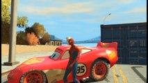 Spiderman et Elsa de Frozen le film samuse avec Flash McQueen de Cars 2 | Jeu Vidéo en Français