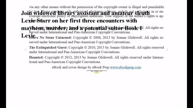 Download Lexie Starr Cozy Mysteries Boxed Set (Three Complete Cozy Mysteries in One) ebook PDF
