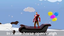 Iron Man Jingle Bells | 3D Animation Rhymes | Most Popular Iron Man Jingle Bell Rhymes For Kids