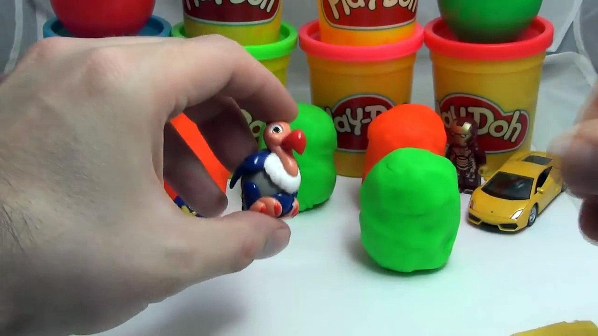Коллекция Киндер сюрприз - игрушки из 90-х и пластилин Play-doh. Angry Birds 90-х [Видео для детей]