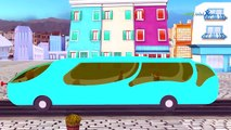 wheels on the bus go round and round rhymes | children nursery rhymes 2d animations cartoon