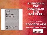 Texte zur Ideenlehre Griech. -Dt. (Klostermann Texte Philosophie)