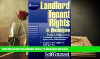 PDF [DOWNLOAD] Landlord/Tenant Rights Washington (Landlord/Tenant Rights in Washington) FOR IPAD