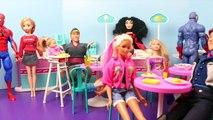 Frozen Anna Gets POWERS from Spiderman!!! Mind Reading Elsa, Barbie and Merida Dolls DisneyCarToys