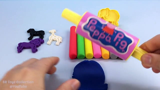 Playdough Modelling Clay with Zoo Animals Cookie Cutters Fun and Creative for Children