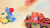 Secret Agent Mater Modifies Lego Guido and Lego Luigi Disney Cars 2 Toys Undercover Pixar