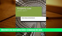BEST PDF  Property Law 2016-2017 (Blackstone Legal Practice Course Guide) FOR IPAD