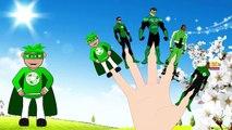 3d Animation Green Lantern Finger family Nursery rhymes for Children Babies Kids