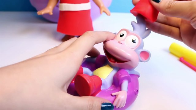 Play Doh Dora The Explorer Backpack Dora & Boots Christmas Season Dora La Exploradora Mochila Botas
