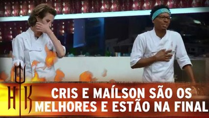 Cris e Maílson fazem os melhores pratos e estão na final