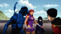 Teen Titans try to protect Raven Justice League vs Teen Titans Fight Scene