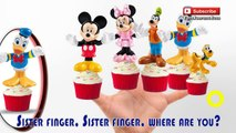 Mickey Mouse Cup Cakes Finger Family Song Nursery Rhymes Lyrics Children Cupcake | ToysSurpriseEggs