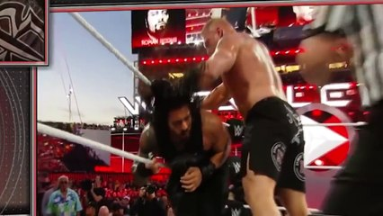 Roman Reigns vs Brock Lesnar Most Brutal Fight FULL Match 2016