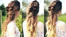 Half Down Braided Hairstyle   Dutch braid and Fishtail Braid   Braidsandstyles12