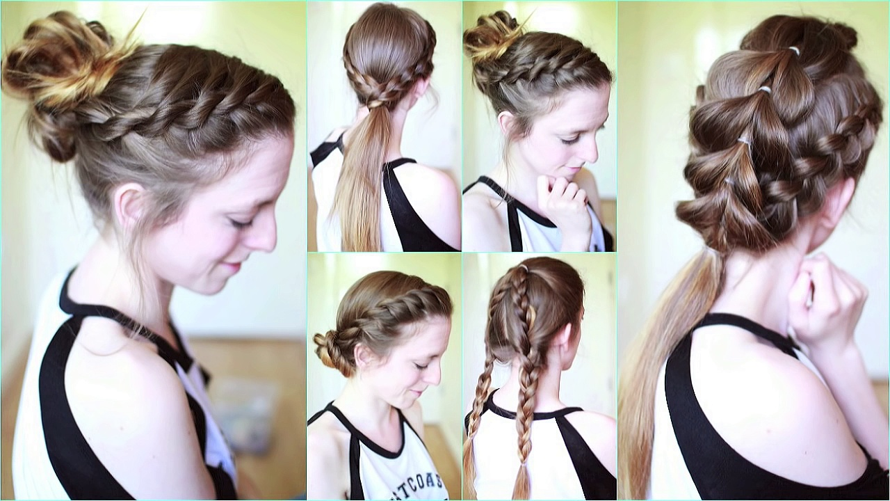 Workout / Active / Gym Hairstyles | Workout Hairstyles | Braidsandstyles12