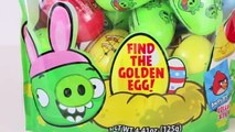 Angry Birds Surprise Eggs Easter Eggs Hunt Angry Birds Plastic Eggs Easter Candy Toys DisneyCarToys