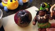 DinoTrux Toys Ty-Rux Slamtools Crushing Toy - Moana Maui Crushes Kakamora Under Car - Oceania Vaiana
