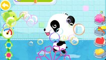 Baby pandas Bath Time | Cute Animals, bath toys, bubbles and more Kids games by Babybus
