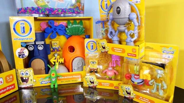 Play Doh Plankton Spongebob Squarepants Imaginext Playset Toys Super Unboxing - Disney Cars Toy Club