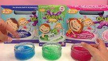 Der große Glibbi Slime Vergleich - Grüner glibber Schleim - rosa glitzer Glibber - Tiefsee blau