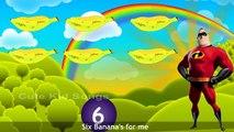 Incredible One Banana Two Banana Nursery Rhyme With Lyrics | 3D Animated Banana Rhymes For Kids