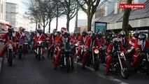 Brest. Manifestation de Pères Noël motards
